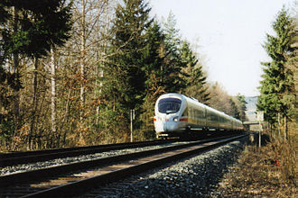 Schiefe Ebene - An ICE TD on the Schiefe Ebene (March 2002)