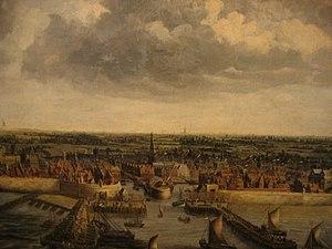Vlissingen - Vlissingen from the sea, 1662