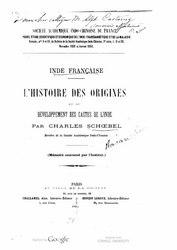 Charles Schoebel: Inde française. L'histoire des origines et du développement des castes de l'Inde