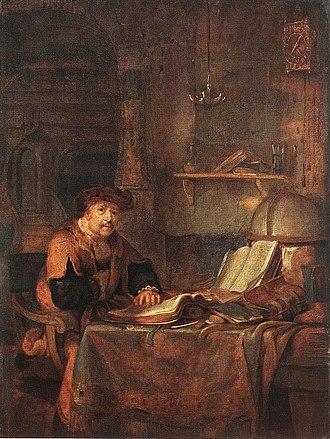 Gerbrand van den Eeckhout - Image: Scholar with His Books by Gerbrand van den Eeckhout