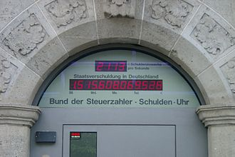 German Taxpayers Federation - The debt clock shows debt forecast in Germany.