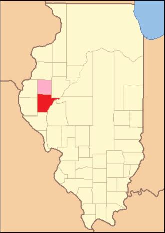 Schuyler County, Illinois - Image: Schuyler County Illinois 1826