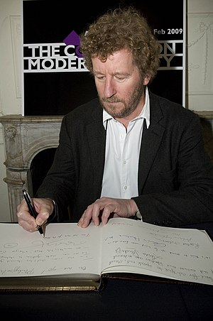 Birdsong (novel) - Faulks signing The Convention on Modern Liberty