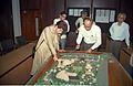 Selja Inspecting Science City Model - Science City Site Office - Calcutta 1994-02-17 180.JPG