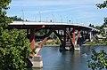 Sellwood Bridge from bike and pedestrian viaduct at bridge's west end, 2018.jpg