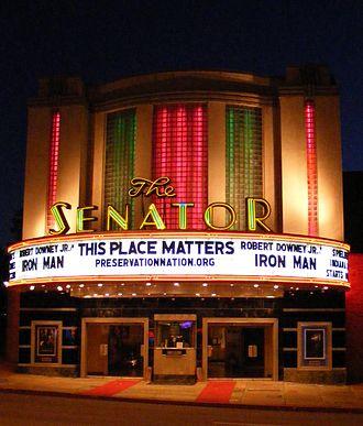 Senator Theatre - Senator Theatre with 2008 marquee