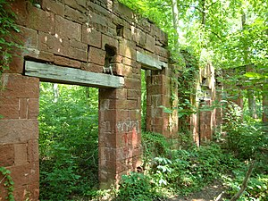 Seneca Creek (Potomac River) - Built in 1837, the Seneca stone cutting mill cut the stone for the Smithsonian Castle