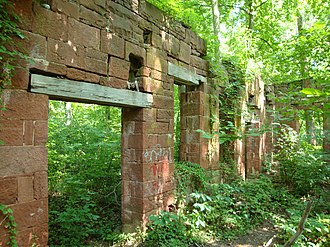 Seneca Creek (Potomac River tributary) - Built in 1837, the Seneca stone cutting mill cut the stone for the Smithsonian Castle