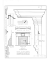 Shadrach Bond Mantel, 929 Sheridan Road (moved from Kaskaskia, IL), Evanston, Cook County, IL HABS ILL,16-EVAN,1- (sheet 1 of 1).png