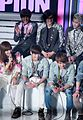 Shinee and B1A4 at the Show Champion on March 2012.jpg