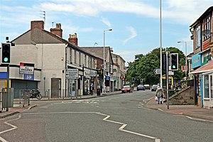 Upton, Merseyside - Image: Shops, Ford Road, Upton Village (geograph 2989845)