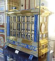 Shrine presented to Pius XI by the City of Milan, 1929, crystal, gold-plate, lapis-lazuli, pearls, jade, precious stones - Galleria di Urbano VIII - Vatican Museums - DSC00755.jpg