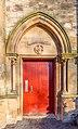 Side door to Crosshill Queen's Park Church, Glasgow, Scotland 05.jpg