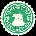 Siegelmarke Der Gemeinderath zu Bärenstein - Amtsh. Annaberg W0311088.jpg