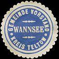 Siegelmarke Gemeinde Vorstand Wannsee Kreis Teltow W0382718.jpg
