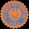Siegelmarke III. Landes-Bauinspection Diez W0329188.jpg