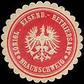 Siegelmarke Königliches Eisenbahn Betriebsamt Braunschweig W0255548.jpg