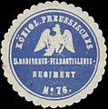 Siegelmarke K.Pr. 5. Badisches-Feldartillerieregiment No. 76 W0363104.jpg