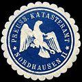 Siegelmarke Preussisches Katasteramt - Nordhausen II W0235865.jpg