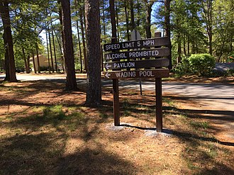 Freetown-Fall River State Forest - Image: Sign at Freetown Fall River State Park