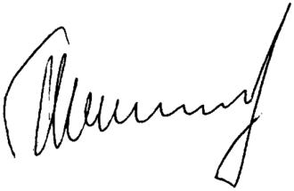Vladimir Shamanov - Image: Signature of Vladimir Shamanov