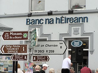 Gaeltacht - Signs in Irish in Dungloe, County Donegal.