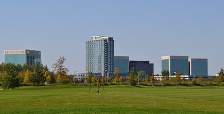 Kanata Research Park is home to many companies, mostly high-tech industries. Silicon valley north.JPG