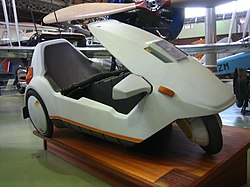 File photo of a Sinclair C5 at the Manchester Museum of Science and Technology.