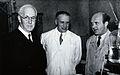 Sir Henry Hallett Dale, H. Häusler and Dr. Kopera. Photograp Wellcome V0026260.jpg