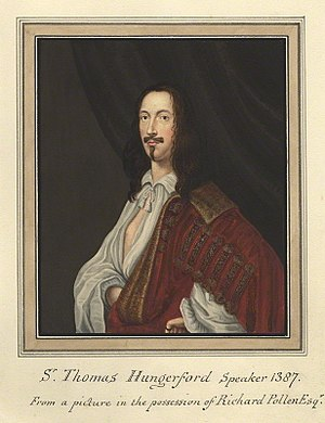 Thomas Hungerford (Speaker) - Image: Sir Thomas Hungerford
