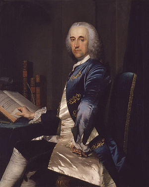 Sir Thomas Robinson, 1st Baronet - Portrait of Sir Thomas Robinson, by Frans van der Mijn, ca. 1750