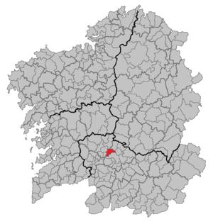 Amoeiro - Image: Situacion Amoeiro