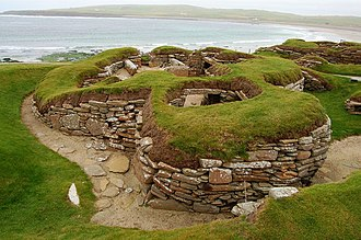 V. Gordon Childe - Neolithic dwellings at Skara Brae in Orkney, the site excavated by Childe in 1927–30