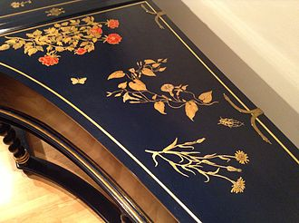 Martin Skowroneck - Decoration on a 1982 Skowroneck harpsichord