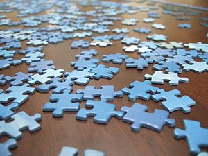 Jigsaw puzzle - Paperboard jigsaw pieces