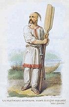 Slav warrior from Solntsev book