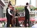 Slovenski muzikaši na Trgu bana Jelačića - Slovene musicians on Ban Jelačić Square (18297975930).jpg