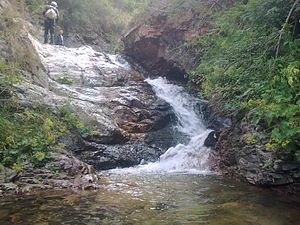 "Lusagyugh, Aragatsotn - Image: Small waterfall. ""Arji chrik"" located just 4 km north east of the town of Lusagyugh"