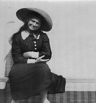 Grand Duchess Maria Nikolaevna of Russia (1899–1918) - Smiling Grand Duchess Maria, Finland, ca. 1912.