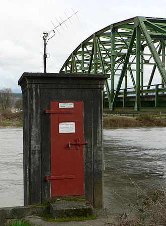 Stream gauge - Stream Gaging Station, Carnation, Washington