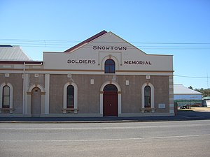 Snowtown, South Australia - Snowtown Soldiers Memorial Hall