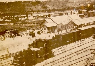 Sochi railway station - Image: Sochi Trainstation 1916