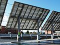 Solar panels back at the Hillsboro Intermodal Transit Facility - Hillsboro, Oregon.JPG