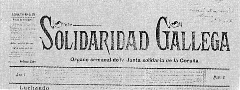 Solidaridad Gallega. Órgano semanal de la Junta solidaria de la Coruña. Año 1. Núm 2