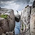 Somewhere over the...sea... - Kjeragbolten - Norway.jpg