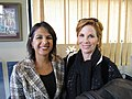Sonia Bekian and Melissa Gilbert after Drug Free America shoot (5242325680).jpg
