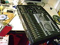 Soundcraft Spirit Digital 328 - pulling the mixer out to work out connections.jpg