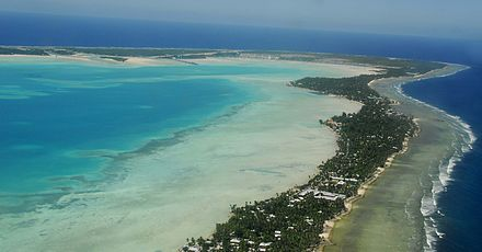 Tarawa Atoll in the Republic of Kiribati South Tarawa from the air.jpg