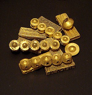 History of Puducherry - Vishva jewellery from Suttukeni, Puducherry, 2nd century BC. Musee Guimet.