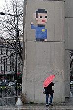 Space Invader, Avenue Corentin Cariou, 75019 Paris, March 2015.jpg